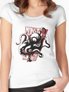 Monster from the Deep Women's Fitted Scoop T-Shirt