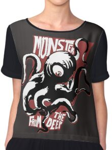 Monster from the Deep Chiffon Top