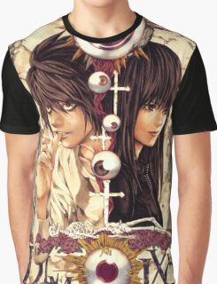 Death Note Misora Naomi & L Graphic T-Shirt