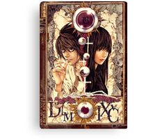 Death Note Misora Naomi & L Canvas Print