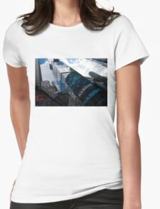 Neon Lights and Ads - Times Square, Manhattan, New York City, USA Womens Fitted T-Shirt