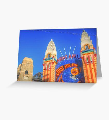 Luna Park .. Just For Fun Greeting Card