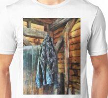Blue Plaid Jacket in Cabin Unisex T-Shirt