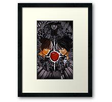 Death Note L vs Kira Framed Print