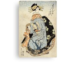 Matsubaya Uchi Yachiyo - Eizan Kikukawa - c1810 - woodcut Canvas Print