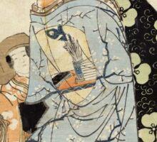 Matsubaya Uchi Yachiyo - Eizan Kikukawa - c1810 - woodcut Sticker
