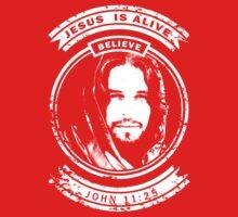 Jesus is Alive John 11:25 Kids Tee