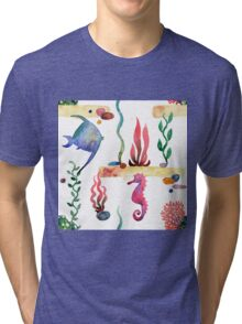 Sea pattern Tri-blend T-Shirt