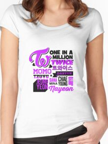 TWICE Collage Women's Fitted Scoop T-Shirt