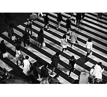 Busy night crossing Photographic Print