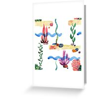 Sea pattern Greeting Card