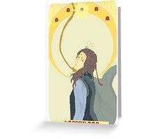 Tarot Series - Sara (The Hanged Man) Greeting Card