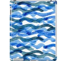 watercolor blue wave pattern iPad Case/Skin