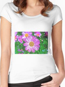 Glowing Daisies Women's Fitted Scoop T-Shirt