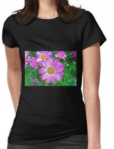 Glowing Daisies Womens Fitted T-Shirt