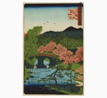 Megane Bridge At Otani In Yamashiro Province - Hiroshige Utagawa - 1859 - woodcut Kids Tee