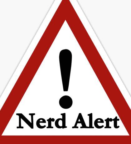 Nerd alert Sticker