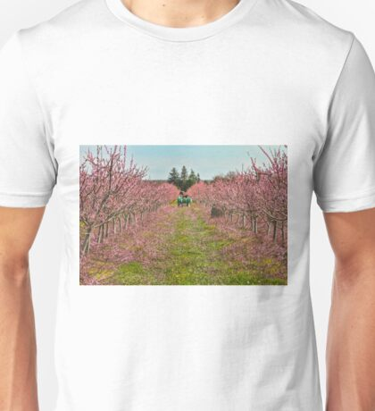 Peach Orchard at Work Unisex T-Shirt