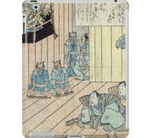 Memorial Print For The Actor Ichikawa Danjuro - anon - 1854 - woodcut iPad Case/Skin