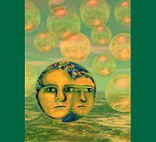 Consciousness - Gold and Green Awakening - Ocean Goddess Unisex T-Shirt