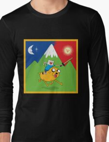 Finn & Jake Adventure Time Albert Hofmann Bikeride LSD Acid Trip Psychedelic Long Sleeve T-Shirt