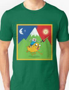 Finn & Jake Adventure Time Albert Hofmann Bikeride LSD Acid Trip Psychedelic T-Shirt