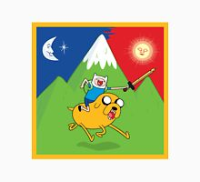 Finn & Jake Adventure Time Albert Hofmann Bikeride LSD Acid Trip Psychedelic Unisex T-Shirt