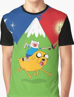 Finn & Jake Adventure Time Albert Hofmann Bikeride LSD Acid Trip Psychedelic Graphic T-Shirt