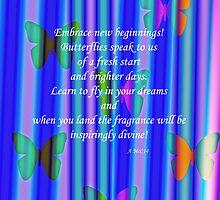 Butterflies inspiration throw pillow by sarnia2