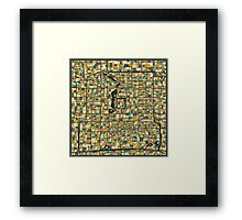 BEIJING MAP 2 Framed Print