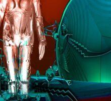 Cyborg factory Sticker