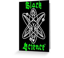 Black Science Greeting Card