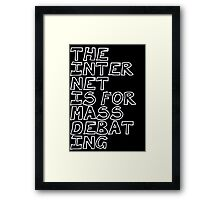 iNTERNET Framed Print