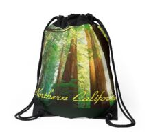 Northern California,Humboldt County And Redwood Trees Drawstring Bag