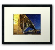 Sydney Harbour Bridge, Milson's Point Framed Print