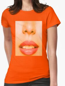 Nose and Mouth Womens Fitted T-Shirt