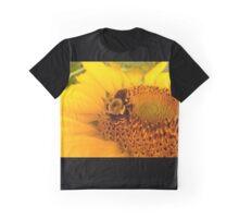 Bee on Sunflower Graphic T-Shirt