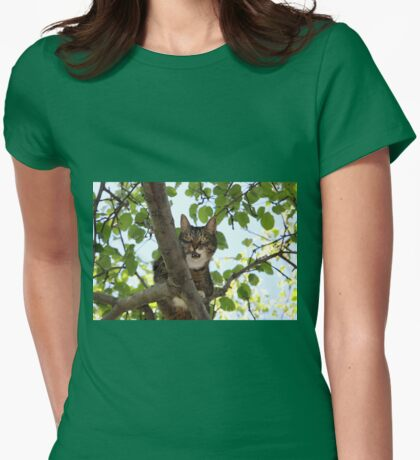 Mishu Posing in His Favourite Tree Womens Fitted T-Shirt