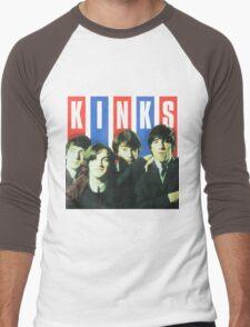 The Kinks Rock Band Men's Baseball ¾ T-Shirt