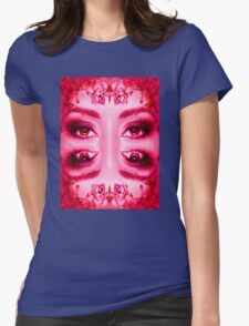 Red Eyes Womens Fitted T-Shirt