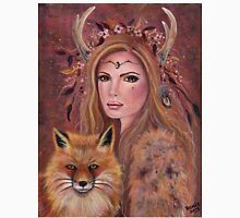 Philana fae with red fox by Renee Lavoie Unisex T-Shirt