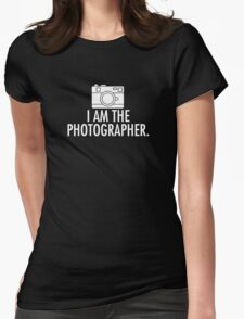 I Am The Photographer logo Womens Fitted T-Shirt
