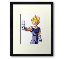 Dragonball Z Vegeta Framed Print