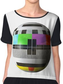 3D TV test pattern  Chiffon Top
