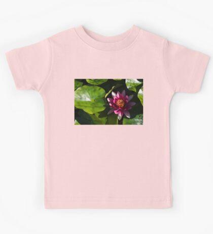 Vivid Magenta Lotus Bloom Kids Tee