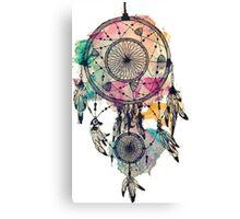 Watercolour Dreamcatcher Canvas Print