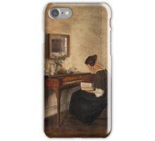Holsoe , Carl - Vid klavikordet iPhone Case/Skin