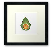 Avocado and Egg Framed Print