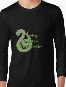 Slytherin - Cunning, Ambition, Determination Long Sleeve T-Shirt