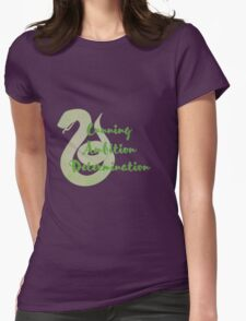 Slytherin - Cunning, Ambition, Determination Womens Fitted T-Shirt